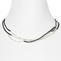 Links of London Cord & Chain Necklace, 17"