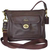 Authentic Coach Leather Swingpack Crossbody Messenger Bag Purse 45012 Mahogany