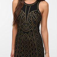 Sparkle &amp; Fade Ponte Knit Studded Bodycon Dress