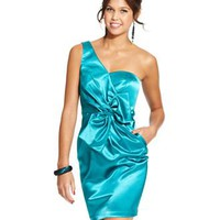 BCX Juniors Dress, One-Shoulder Pleated Bow - Juniors Party Dresses - Macy's