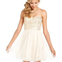 Speechless Juniors Dress, Strapless Sequin Corset - Juniors Party Dresses - Macy's