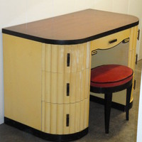 THE BEST1930s Art Deco Vanity & Stool Skandia Rockford | eBay