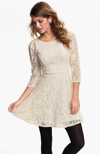Fire Lace Skater Dress (Juniors) | Nordstrom