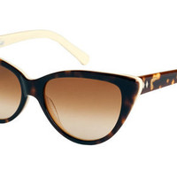 Tres Noir Ultra Lux Tortoise &amp; Ivory Horn Retro Sunglasses - Unique Vintage - Cocktail, Evening  Pinup Dresses