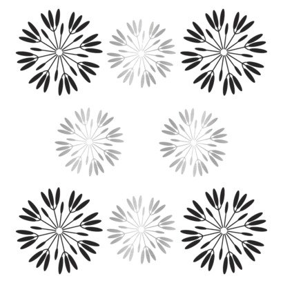 Peel &amp; Stick Reusable Wall Decal - Flowers Pop Daisy