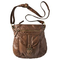 BUENO Light Bronze Washed Crossbody Handbag