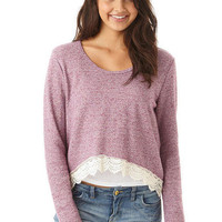 Crochet Bottom Sweatshirt