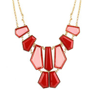 Red Statement Necklace -  $5 Shipping