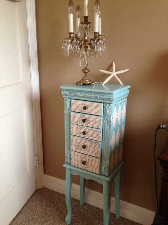 large upcycled jewelry armoire hand from. Black Bedroom Furniture Sets. Home Design Ideas