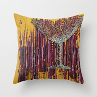 :: Afternoon Wine :: Throw Pillow by GaleStorm Artworks | Society6