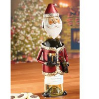 Holiday Wine Bottle Holder - Santa