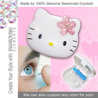 Bling Hello Kitty Swarovski Crystal Contact Lens by crystaltingle
