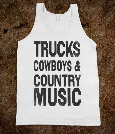 Trucks Cowboys And Country Music (Vintage Tank) - Shake it for Luke Bryan