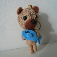 Cute String Bear With Fish Miniatur.. on Luulla
