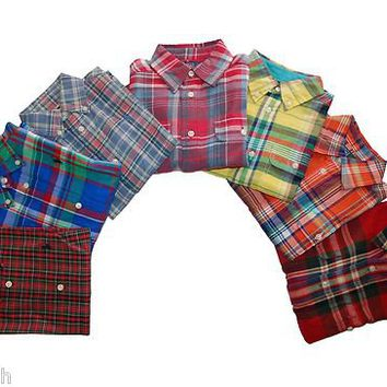 NWT Ralph Lauren Polo Boys Plaid Shirt 2 2T