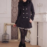 2011 Fall & Winter Style Slim Ladies Coats Black : Wholesaleclothing4u.com