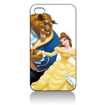 Beauty and the Beast Hard Case Cover Skin for Iphone 4 4s Iphone4 At&t Sprint Verizon Retail Packing