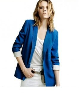 Wholesale Fashion Simple Design West Style Coat Sapphire Blue  www.wholesale-dress.net