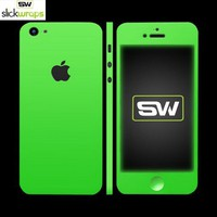 Save on Free Shipping w/ the Original SlickWraps Apple iPhone 5 Protective Skin - Glow in the Dark Green in US AccessoryGeeks