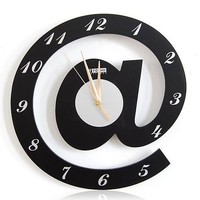 Letter @ Web Language @ Home Featured Wall Clock