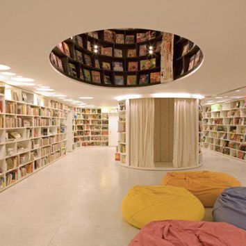 Book Store Interior Design with Unique Bookcase from Brazil book store interior design with unique bookcase first floor ? Best Home Gallery, Interior, Home Decor