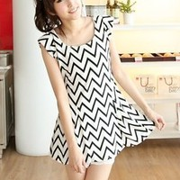 Long Zig Zag Pattern Dress by Simply Sophisticated