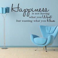 Hapiness is NOT Having Wall Decal Quotes Lettering (74)