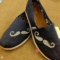 SALE- MOVEMBER &quot;Mustache&quot;  Toms Shoes