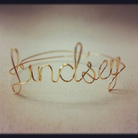 Customized / Personalized Wire Bracelets (up to 7 letters)
