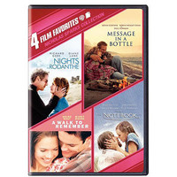 Walmart: 4 Film Favorites: Nicholas Sparks Romances - Nights In Rodanthe / The Notebook / Message In A Bottle / A Walk To Remember (Widescreen)