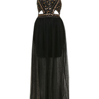 Stud Sequin Maxi Dress