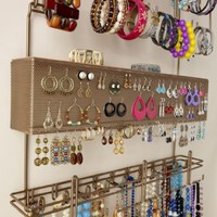Overdoor Wall Longstem Jewelry Organizer Valet Bronze - Holds over 300 pieces. Unique patented product - Rated Best!