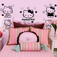 Hello Kitty Inspired Wall Decal Sticker Art Set