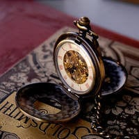 Brass Mechanical Pocket Watch Necklace 6 - $42.00 : RagTraderVintage.com, Handmade Indie Retro Accessories