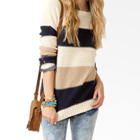 Colorblocked Dropped Shoulder Sweater