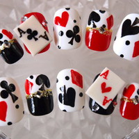 Nail Tips > Short - Playing Cards[S] - Worldwide shipping of Japanese nails, Deco den parts, Nail parts