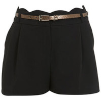 Black Scallop Waist Short - View All  - New In