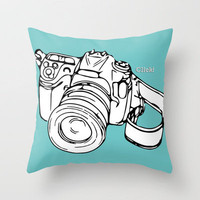 Click! Throw Pillow by Beth Thompson | Society6