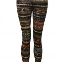 Geometric Print Multi Color Leggings