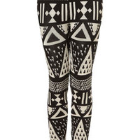 Large Aztec Knitted Leggings - Pants &amp; Leggings  - Clothing