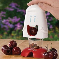 "Amazon.com: Harold Import 00508 ""Talisman Designs"" Cherry Chomper Cherry Pitter: Kitchen & Dining"