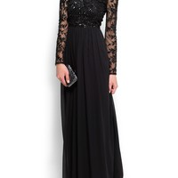 MANGO - CLOTHING - Dresses - Jewelled chiffon gown