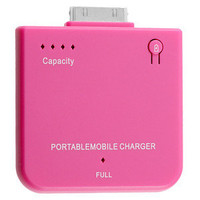 New Portable Backup Battery Charger for iPhone and iPod | PINK