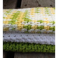 Eco friendly 100% Cotton wash cloths - Set of 3