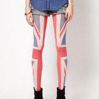 Sexy England Tattoo Socks Transparent Pantyhose Stockings Tights Leggings