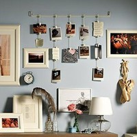 Ikea Fiskevik Picture Holder Frame Hang up to 15 Photos: Home & Kitchen