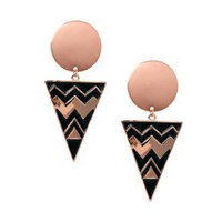 ASOS Spot Triangle Doorknocker Earrings at asos.com