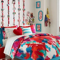 Teen Vogue Poppy Art Comforter Set - Dorm Bedding - Bed &amp; Bath - Macy&#x27;s