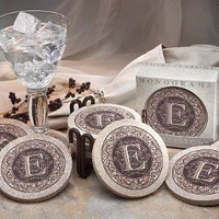 Thirstystone TSMB Thirstystone 4 piece Coaster Set Monogram B: Kitchen & Dining