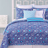 Trina Turk Bedding, Caprice Medallion Printed Coverlet Collection - Bedding Collections - Bed & Bath - Macy's